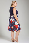 Plus Size - Sara Combo Flare Dress