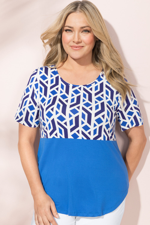 Plus Size - Sara Spliced Top