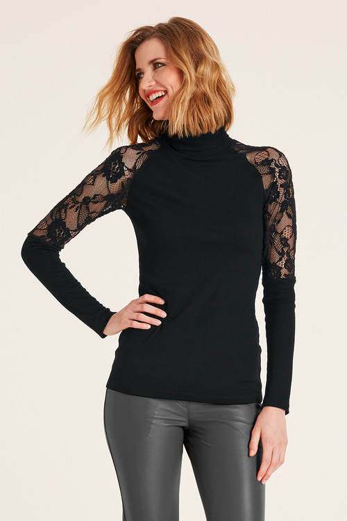 Heine Lace Sleeve Top