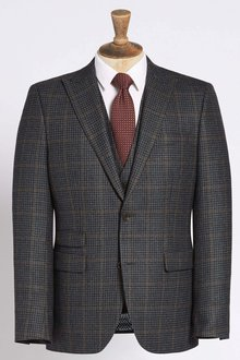 Next Tailored Fit Signature Check Suit: Jacket - 214290