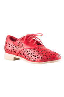 Plus Size - Wide Fit Poppy Court Flat