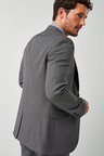 Next Grey Tailored Fit Wool Blend Suit: Jacket