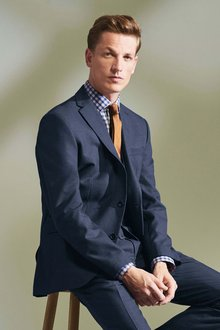 Next Textured Slim Fit Suit: Jacket - Tailored Fit