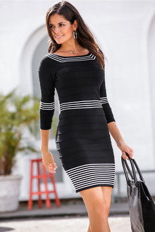 Urban Ribbed Knitwear Dress - 214348