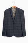 Next Slim Fit Check Suit: Jacket