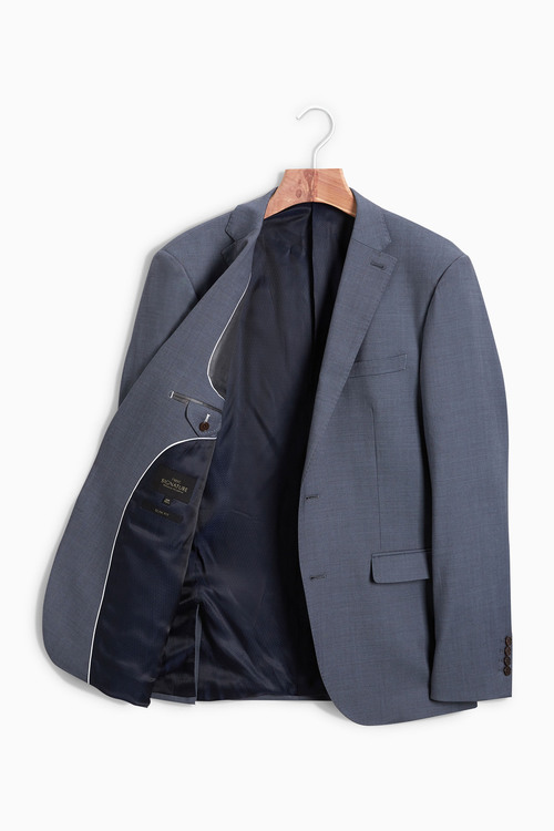 Next Signature Italian Wool Suit: Jacket - Slim Fit