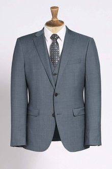 Next Signature Italian Wool Suit: Jacket - Slim Fit - 214361