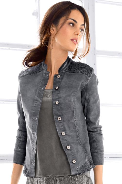Heine Lace Detail Denim Jacket