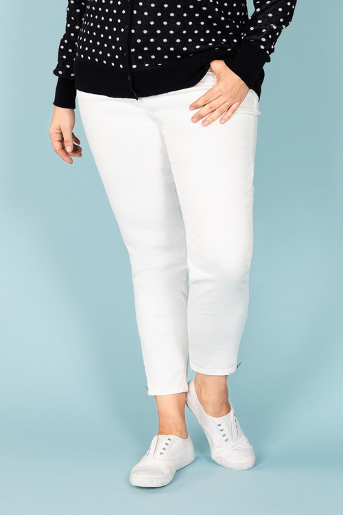 Plus Size - Sara So Slimming Zip Detail Jeans