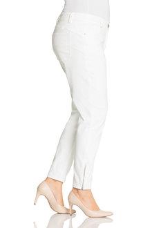 Plus Size - Sara So Slimming Zip Detail Jeans