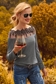 Heine Boat Neck Lush Sweater