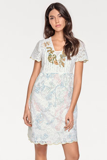 Heine Embroidered Lace Dress - 214397