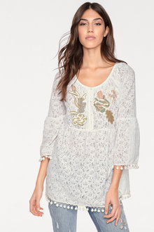 Heine Embroidered Lace Top - 214398