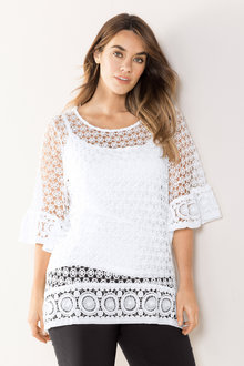 Plus Size - Sara Lace Top