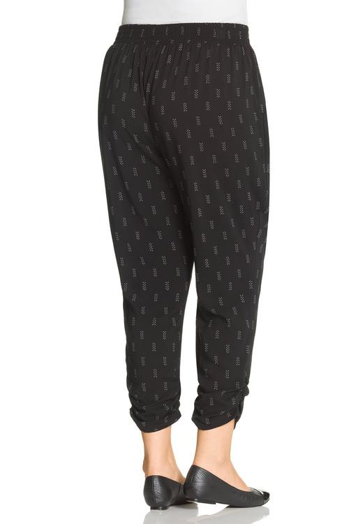 Plus Size - Rouched Hem Crop Pant