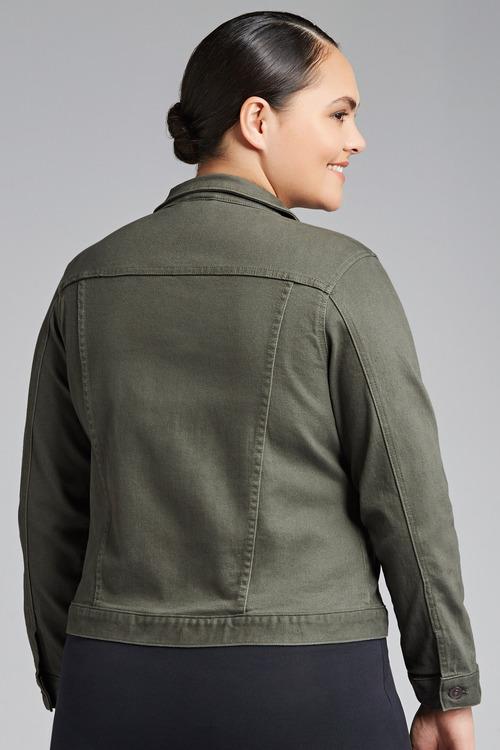 Plus Size - Sara Crop Denim Jacket