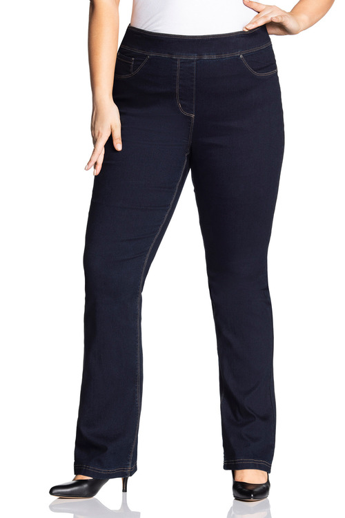 Plus Size - Sara Pull On Bootleg Jean
