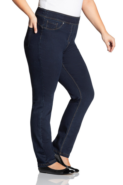 Plus Size - Sara Pull On Straight Leg Jean