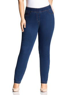 Sara Pull On Straight Leg Jean - 214451