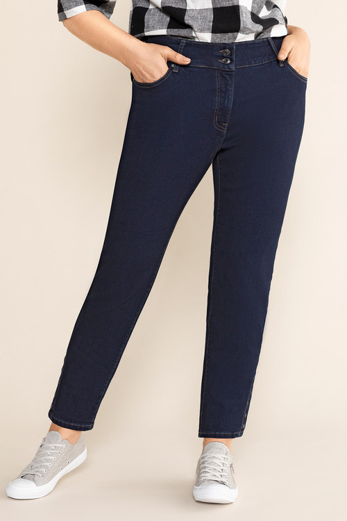 Sara So Slimming Hem Detail Jeans