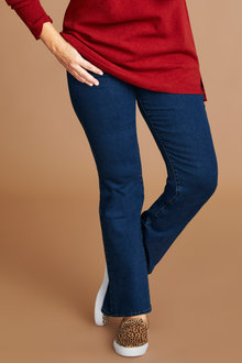 Plus Size - Sara So Slimming Bootleg Jean