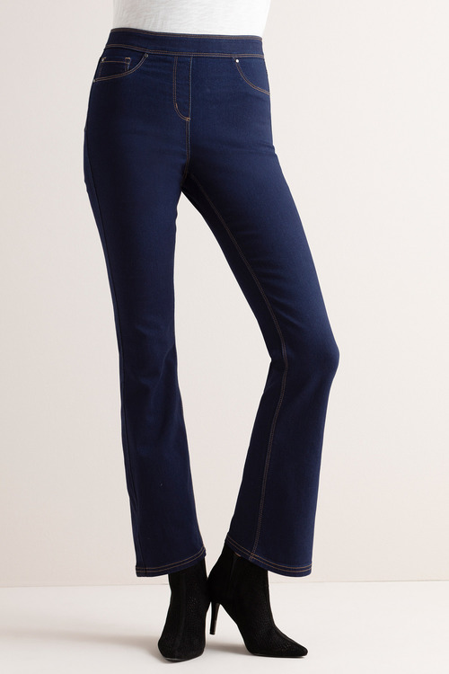 Capture Superstretch Pull On Boot Leg Jeans