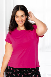 Plus Size - Sara Pocket Tee