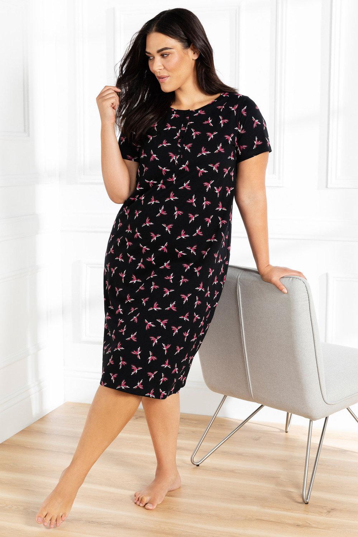 5b08bf98f1d Plus Size - Sara Longline T-Shirt Nightie