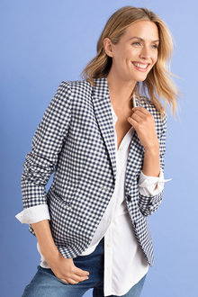 Capture Gingham Blazer
