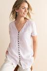 Capture Linen Button Top