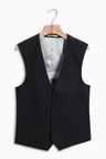 Next Wool Blend Stretch Suit: Waistcoat
