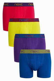 Next Contrast Waistband A-Fronts Four Pack