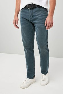 Next Stretch Belted Jeans - Slim Fit