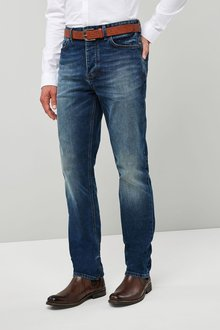 Next Belted Jeans - Straight Fit