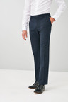 Next Wool Blend Stretch Suit: Trousers - Regular Fit