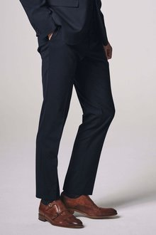 Next Wool Blend Stretch Suit: Trousers - Slim Fit - 214651