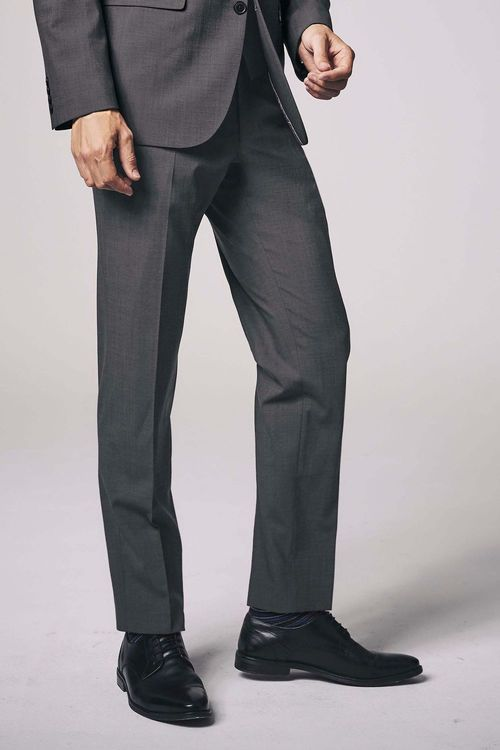 Next Wool Blend Stretch Suit: Trousers - Tailored Fit