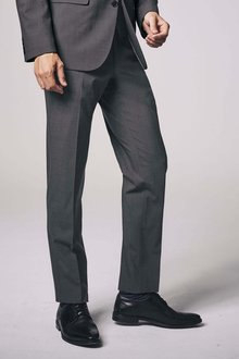 Next Wool Blend Stretch Suit: Trousers - Tailored Fit - 214653