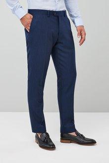 Next Slim Fit Signature Stripe Suit: Trouser - 214685