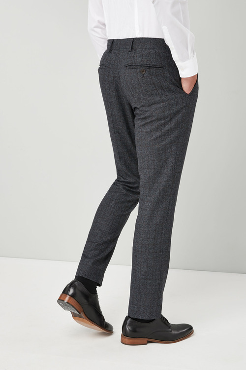 Next Slim Fit  British Wool Suit: Trouser