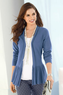Euro Edit Peplum Cardigan - 214701
