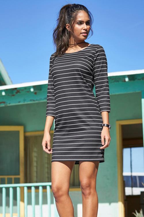 Urban Stripe Shift Dress