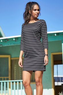 Urban Stripe Shift Dress