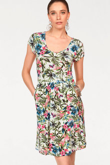Urban Printed Jersey Dress - 214711
