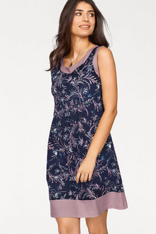 Urban Printed Sleeveless Dress - 214712