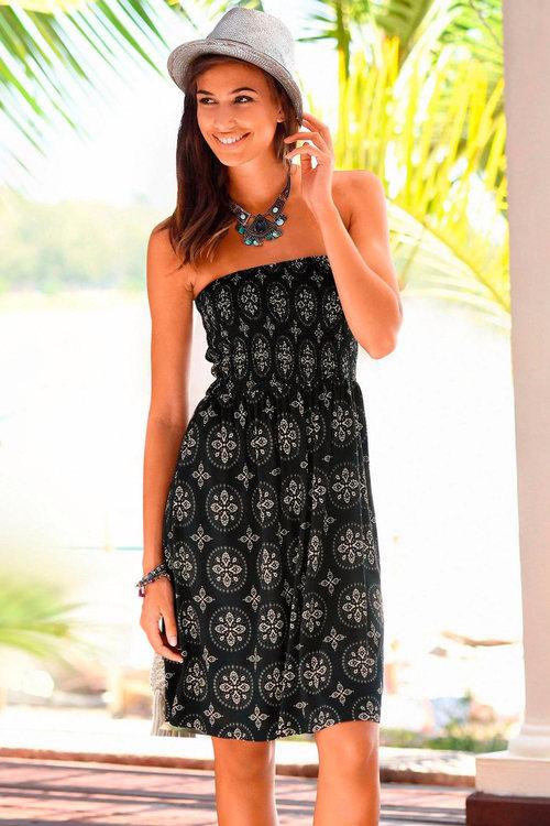 Urban Strapless Printed Dress