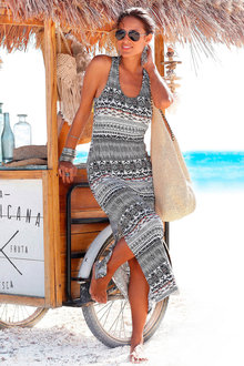 Urban Lace Back Printed Maxi