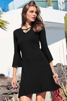 Urban Ring Detail Knitwear Dress - 214722