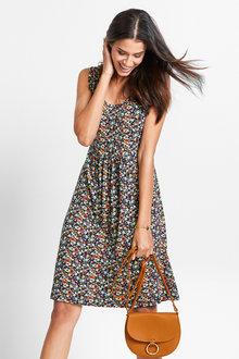 Urban Sleeveless Print Dress - 214725