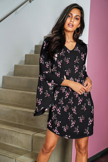 Urban Flutter Sleeve Dress - 214726